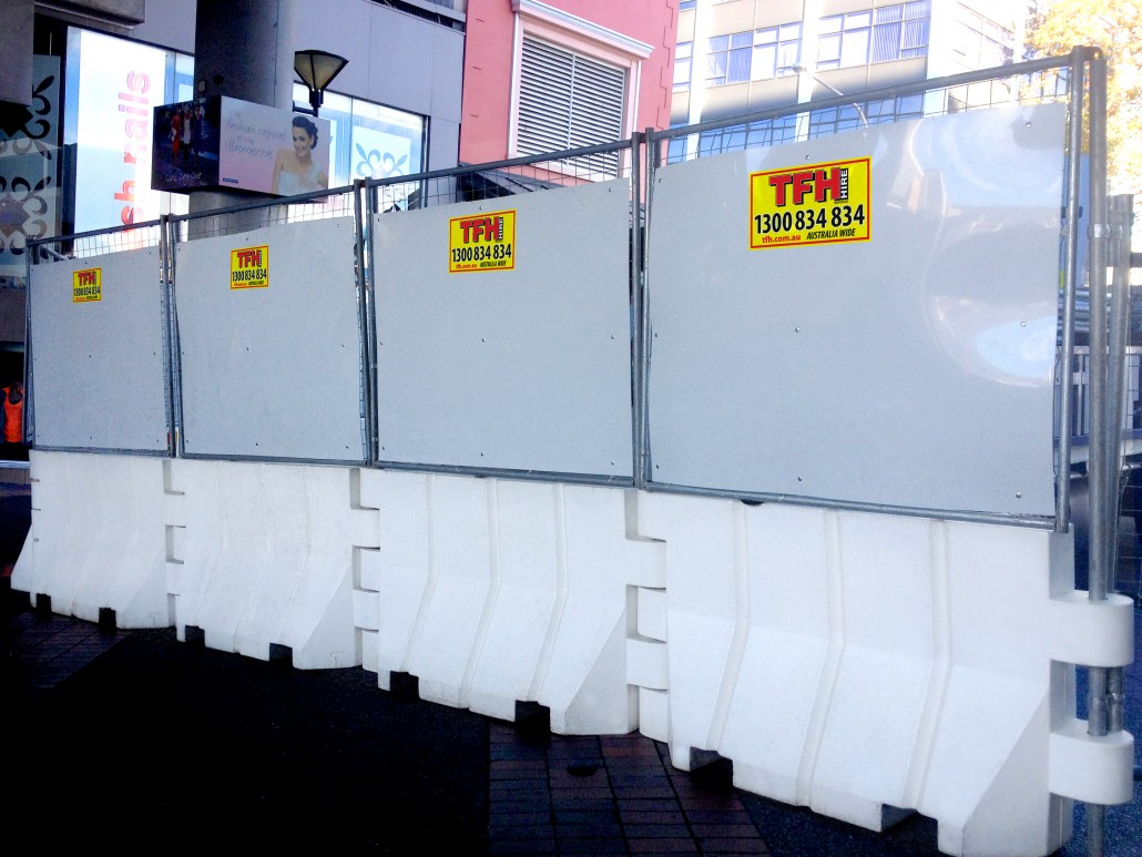 Water Barrier Hoarding Extensions - Better Hire Ballina